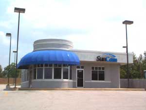 Coated Fabric Dome Awning