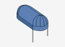 Rounded Entrance Canopy With Bull Nose
